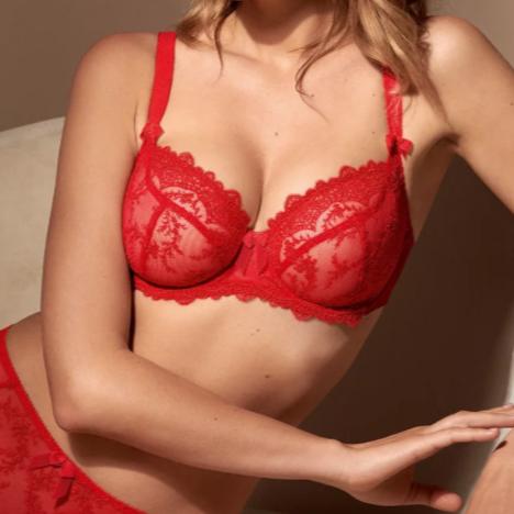 Empreinte Louise lingerie in rouge intense